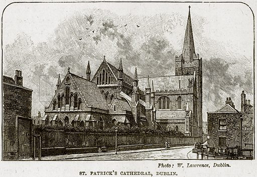 St Patrick's Cathedral, Dublin. Illustration from The Life and Times of Queen Victoria by Robert Wilson (Cassell, 1893).