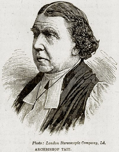 Archbishop Tait. Illustration from The Life and Times of Queen Victoria by Robert Wilson (Cassell, 1893).