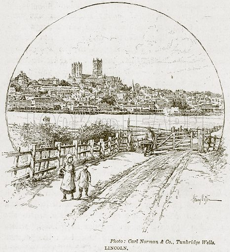 Lincoln. Illustration from The Life and Times of Queen Victoria by Robert Wilson (Cassell, 1893).
