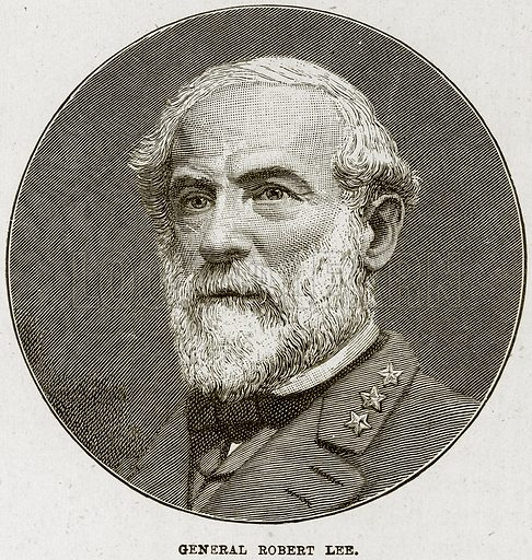 General Robert Lee. Illustration from The Life and Times of Queen Victoria by Robert Wilson (Cassell, 1893).