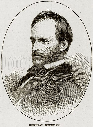 General Sherman. Illustration from The Life and Times of Queen Victoria by Robert Wilson (Cassell, 1893).