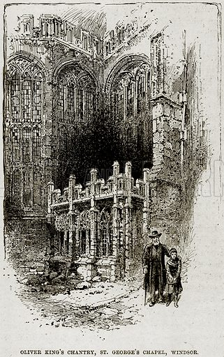 Oliver King's Chantry, St George's Chapel, Windsor. Illustration from The Life and Times of Queen Victoria by Robert Wilson (Cassell, 1893).