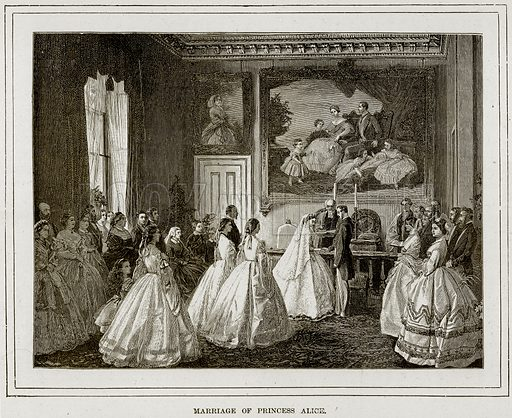 Marriage of Princess Alice. Illustration from The Life and Times of Queen Victoria by Robert Wilson (Cassell, 1893).