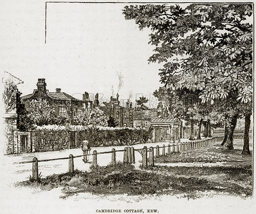 Cambridge Cottage, Kew. Illustration from The Life and Times of Queen Victoria by Robert Wilson (Cassell, 1893).