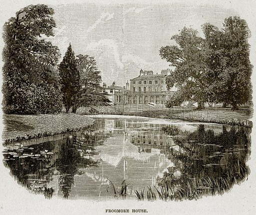 Frogmore House. Illustration from The Life and Times of Queen Victoria by Robert Wilson (Cassell, 1893).