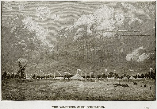 The Volunteer Camp, Wimbledon. Illustration from The Life and Times of Queen Victoria by Robert Wilson (Cassell, 1893).