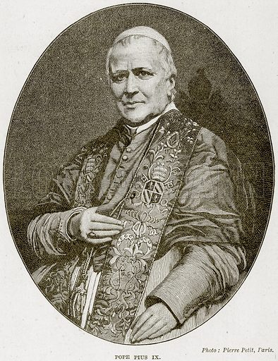 Pope Pius IX. Illustration from The Life and Times of Queen Victoria by Robert Wilson (Cassell, 1893).