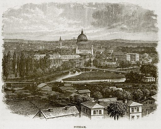 Potsdam. Illustration from The Life and Times of Queen Victoria by Robert Wilson (Cassell, 1893).