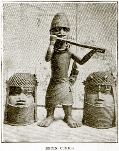 Benin Curios. Illustration from The Life and Times of Queen Victoria by Robert Wilson (Cassell, 1893).