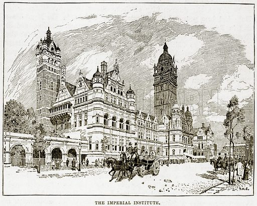 The Imperial Institute. Illustration from The Life and Times of Queen Victoria by Robert Wilson (Cassell, 1893).