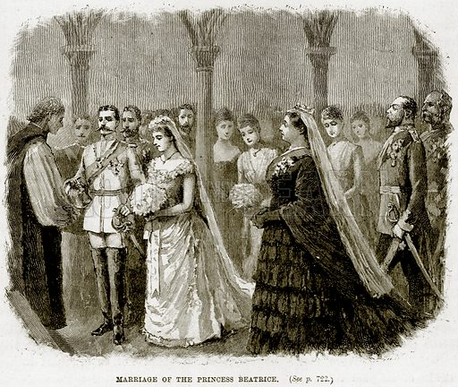 Marriage of the Princess Beatrice. Illustration from The Life and Times of Queen Victoria by Robert Wilson (Cassell, 1893).