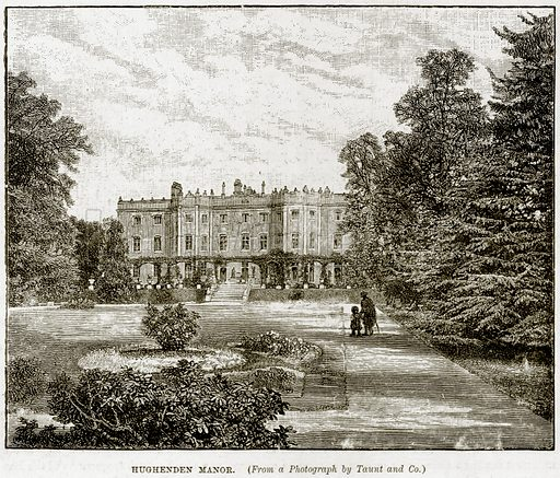 Hughenden Manor. Illustration from The Life and Times of Queen Victoria by Robert Wilson (Cassell, 1893).