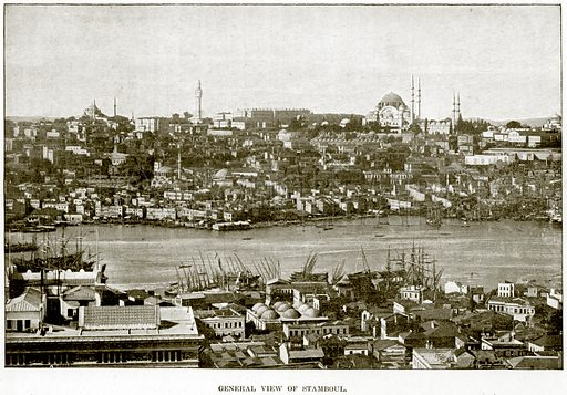 General View of Stamboul. Illustration from The Life and Times of Queen Victoria by Robert Wilson (Cassell, 1893).