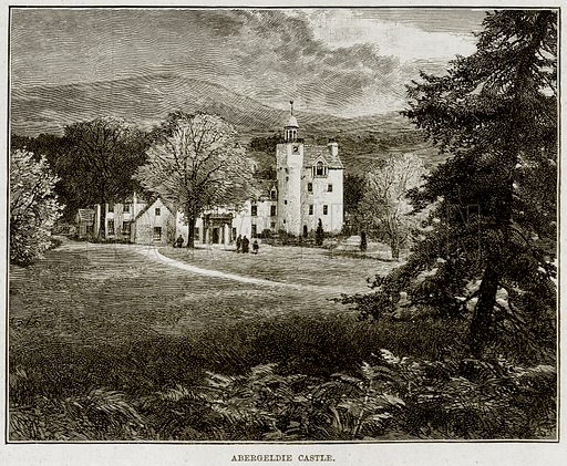 Abergeldie Castle. Illustration from The Life and Times of Queen Victoria by Robert Wilson (Cassell, 1893).