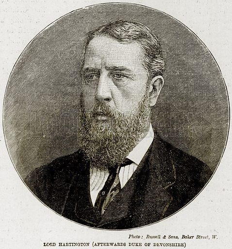 Lord Hartington (Afterwards Duke of Devonshire). Illustration from The Life and Times of Queen Victoria by Robert Wilson (Cassell, 1893).