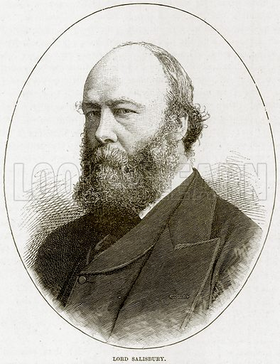 Lord Salisbury. Illustration from The Life and Times of Queen Victoria by Robert Wilson (Cassell, 1893).