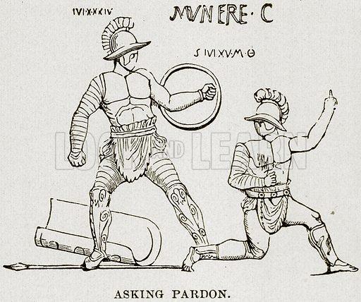 Asking Pardon. Illustration from Museum of Antiquity (Western Publishing House, 1880).