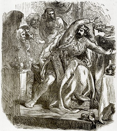 Macbeth. Illustration from Tales from Shakespeare by Charles Lamb (George Routledge, 1894).