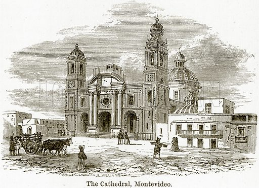 The Cathedral, Montevideo. Illustration from The World As It Is by George Chisholm (Blackie, 1884).