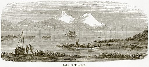 Lake of Titicaca. Illustration from The World As It Is by George Chisholm (Blackie, 1884).