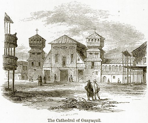 The Cathedral of Guayaquil. Illustration from The World As It Is by George Chisholm (Blackie, 1884).