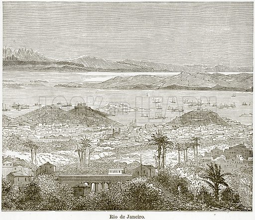 Rio de Janeiro. Illustration from The World As It Is by George Chisholm (Blackie, 1884).