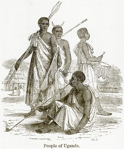 People of Uganda. Illustration from The World As It Is by George Chisholm (Blackie, 1884).