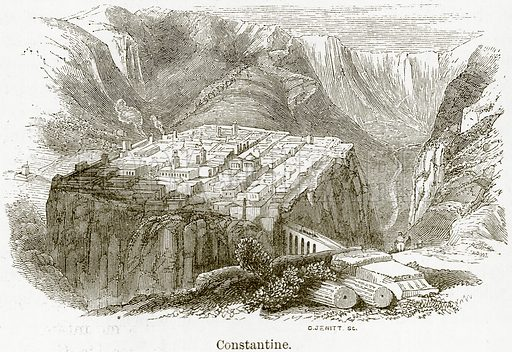 Constantine. Illustration from The World As It Is by George Chisholm (Blackie, 1884).