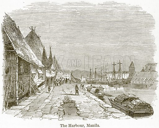 The Harbour, Manila. Illustration from The World As It Is by George Chisholm (Blackie, 1884).