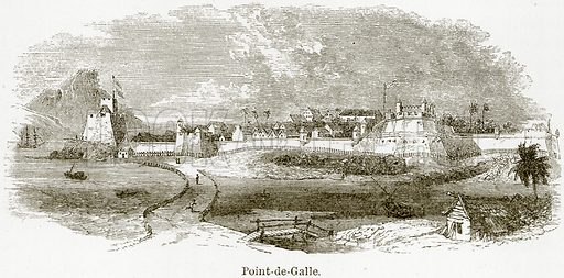 Point-de-Galle. Illustration from The World As It Is by George Chisholm (Blackie, 1884).