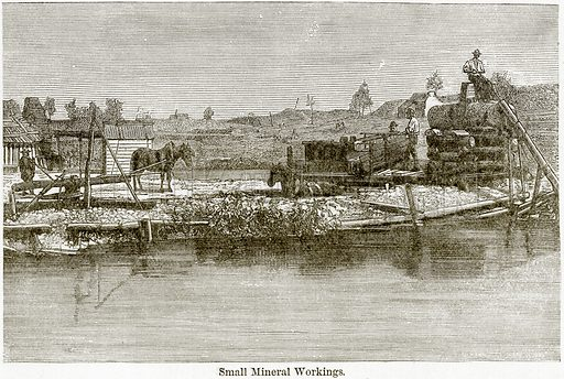 Small Mineral Workings. Illustration from The World As It Is by George Chisholm (Blackie, 1884).