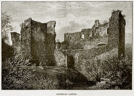 Rothesay Castle. Illustration from Cassell's History of England (special edition, AW Cowan, c 1890).