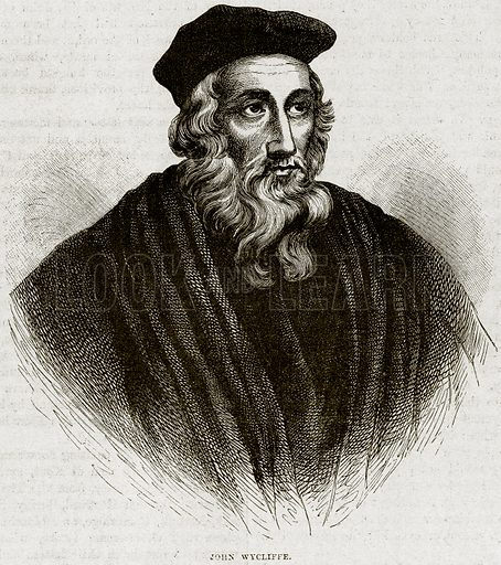 John Wycliffe. Illustration from Cassell's History of England (special edition, AW Cowan, c 1890).