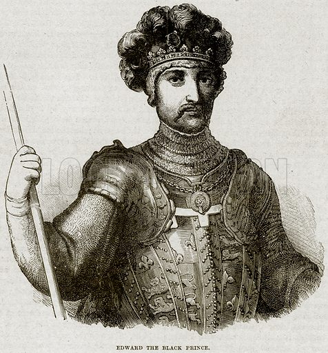Edward the Black Prince. Illustration from Cassell's History of England (special edition, AW Cowan, c 1890).