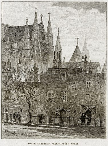 South Transept, Westminster Abbey. Illustration from Cassell's History of England (special edition, AW Cowan, c 1890).