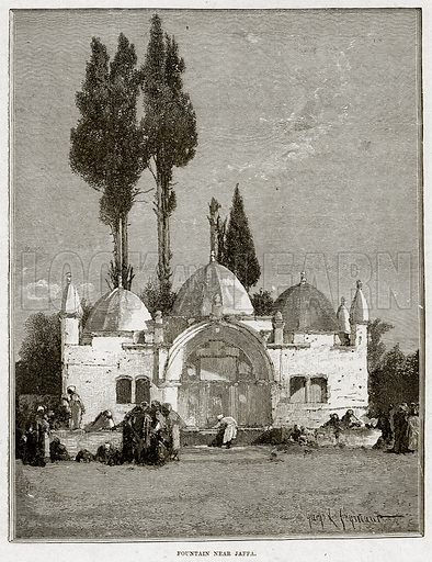 Fountain near Jaffa. Illustration from Cassell's History of England (special edition, AW Cowan, c 1890).