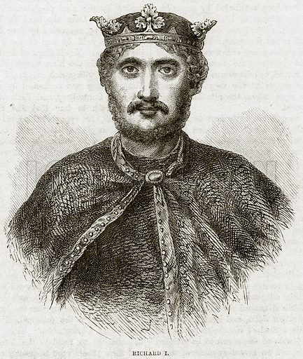 Richard I. Illustration from Cassell's History of England (special edition, AW Cowan, c 1890).
