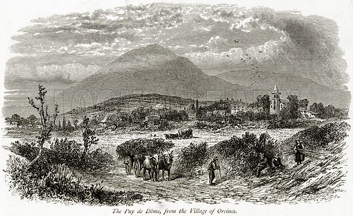 The Puy de Dome, from the Village of Orcines. Illustration from Picturesque Europe (Cassell, c 1880).