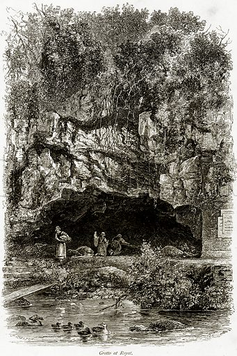 Grotto at Royat. Illustration from Picturesque Europe (Cassell, c 1880).