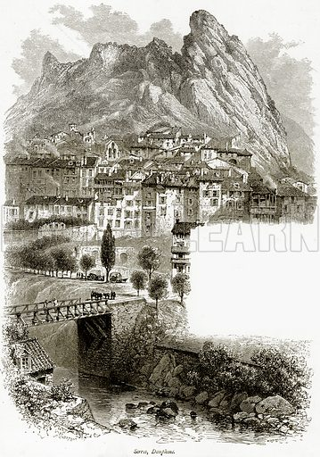 Serres, Dauphine. Illustration from Picturesque Europe (Cassell, c 1880).