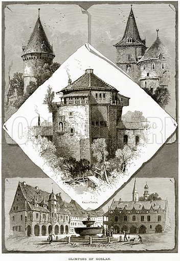 Glimpses of Goslar. Illustration from Picturesque Europe (Cassell, c 1880).