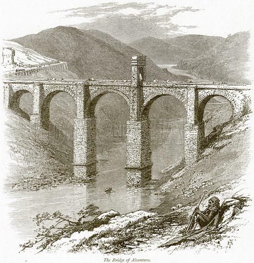 The Bridge of Alcantara. Illustration from Picturesque Europe (Cassell, c 1880).