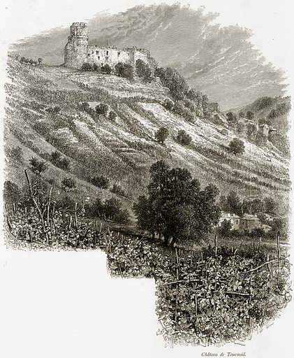Chateau de Tournoel. Illustration from Picturesque Europe (Cassell, c 1880).