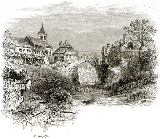 St Gingolph. Illustration from Picturesque Europe (Cassell, c 1880).