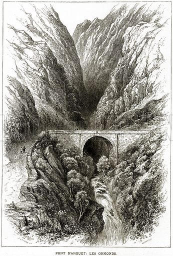 Pont D'arouet: Les Ormonds. Illustration from Picturesque Europe (Cassell, c 1880).