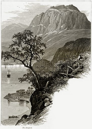 The Dalsfjord. Illustration from Picturesque Europe (Cassell, c 1880).