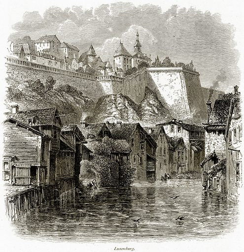 Luxemburg. Illustration from Picturesque Europe (Cassell, c 1880).