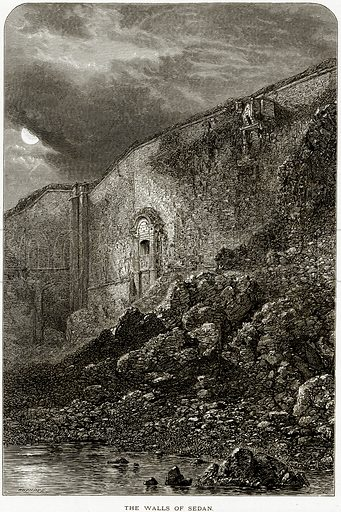 The Walls of Sedan. Illustration from Picturesque Europe (Cassell, c 1880).