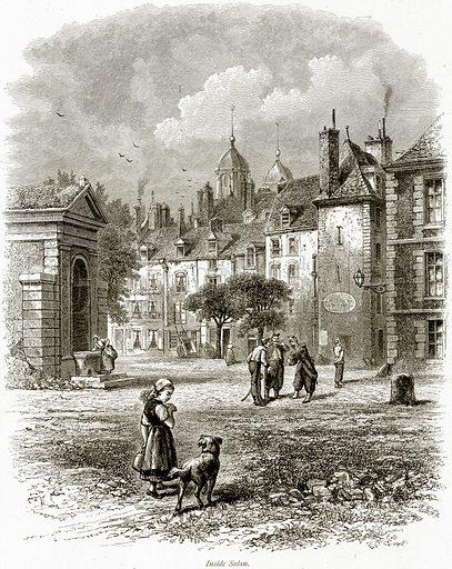 Inside Sedan. Illustration from Picturesque Europe (Cassell, c 1880).
