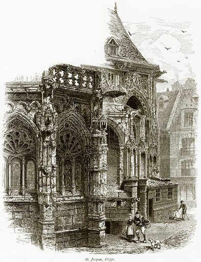 St Jacques, Dieppe. Illustration from Picturesque Europe (Cassell, c 1880).